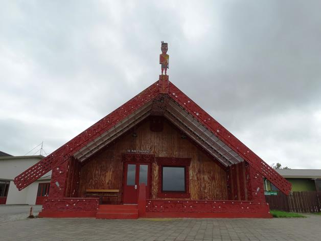 The beautiful wharenui at Murihiku Marae.
