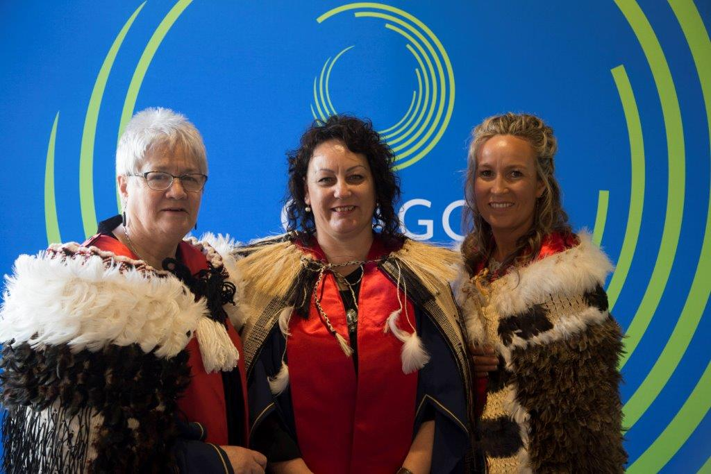 From left: Natalie Karaitiana, Michelle Taiaroa McDonald and Paulette Tamati-Elliffe, Ōtākou graduates of the Capable NZ Kāi Tahu Cohort.