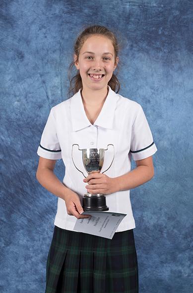 Nicole Harper with her trophy.
