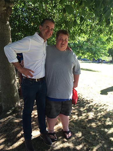 Nigel Latta with Liam Ellison.