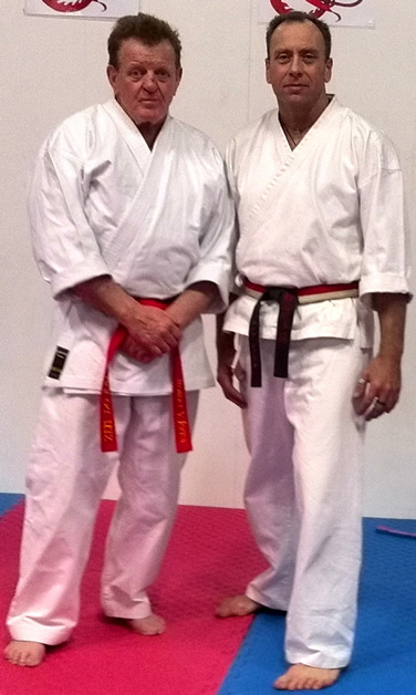Nik Randle, right, with Australian ZDK co-founder, Soke Bob Jones.