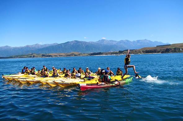 One of the activities at Kura Reo Rakatahi.