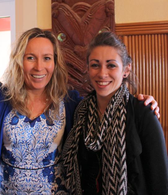 Ōtākou members Paulette Tamati-Elliffe and university student, Talia Ellison.