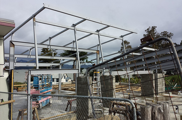 Our new wharekai here at Rāpaki is taking shape.