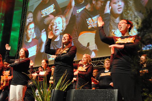 Our performers on stage at Araiteuru, Dunedin Town Hall on 20 November.