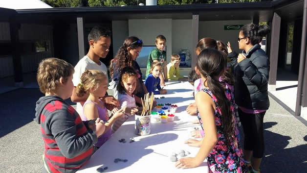 Our tamariki got creative with the painting activities.