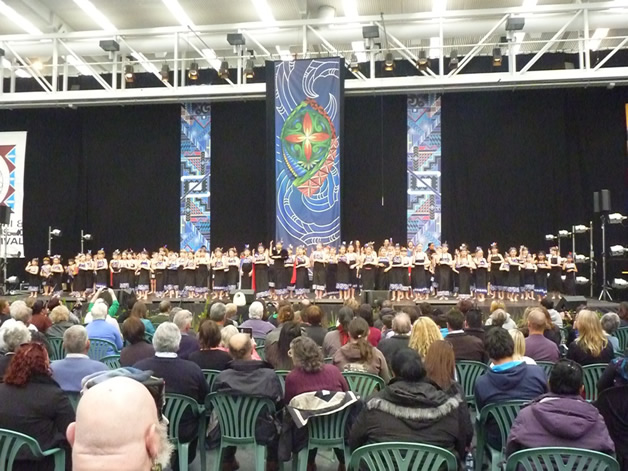 Our tamariki taking part in the festival.