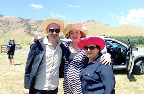 Peter and Pirimia Burger with Aunty Elizabeth Cunningham.
