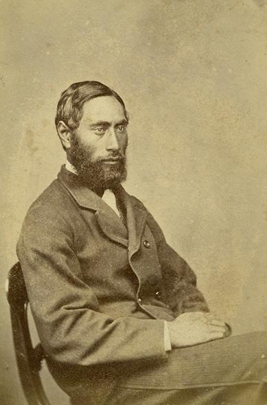 Photograph of Hori Kerei Taiaroa taken in Dunedin in the early 1870's.