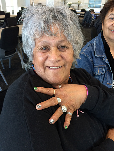 Polly Rhodes with her new nails.