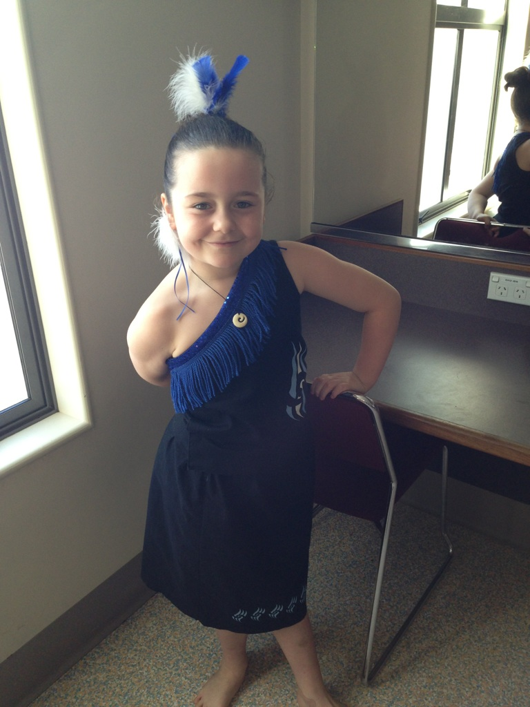 Poppy Nicholas, six, from Newfield Park School, Invercargill taking part in Polyfest 2013 at the Civic Theatre.