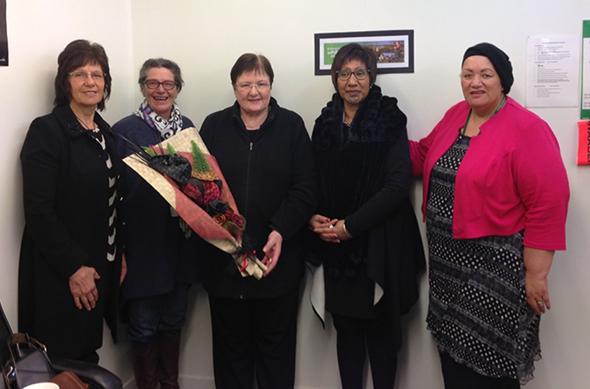 From left: Rae De Joux, Suzanne Eddington, Margaret Hill, Suzi Waaka and Ruth Garvin.