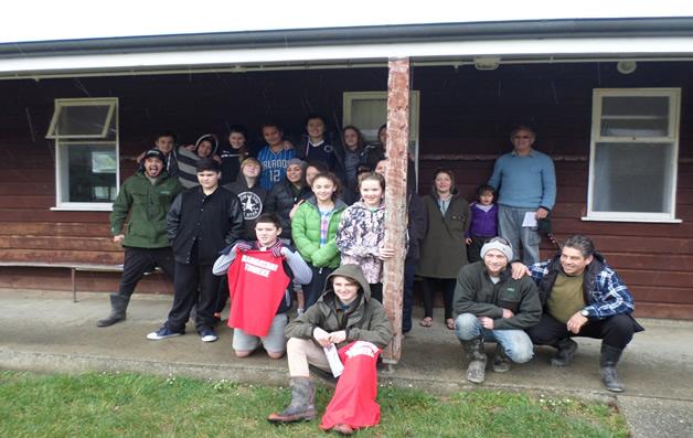 Rangatahi and tutors participating in the camp at Tautoko Outdoor Lodge.