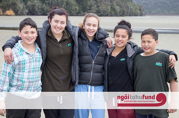 Rangatahi during Rangatahi Tumeke, a kaupapa which has received funding from the Ngāi Tahu Fund.