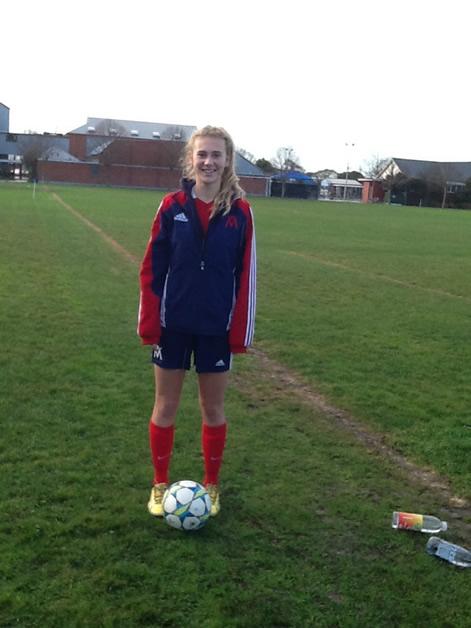 Rebecca Lake on the field.
