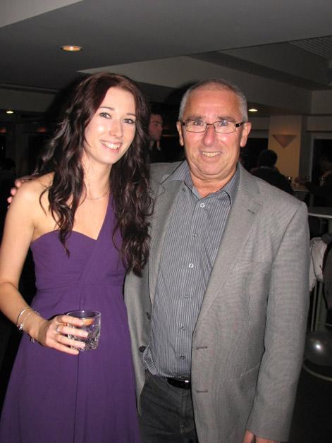 Rebecca and her father, Tim Fitzgerald.