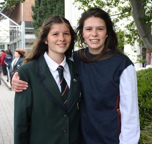 Rebekah (left) and Sarah Thomas.