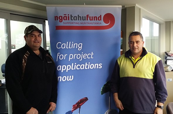 Reti and Ranui Bull learning more about the Ngāi Tahu Fund.