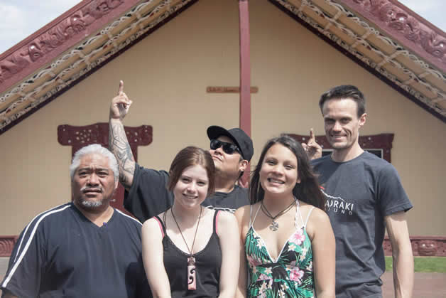 Riki Kohi, Charlotte Friend, Maha Tomo, Tewainui Tomo, Jonathan Sargisson.
