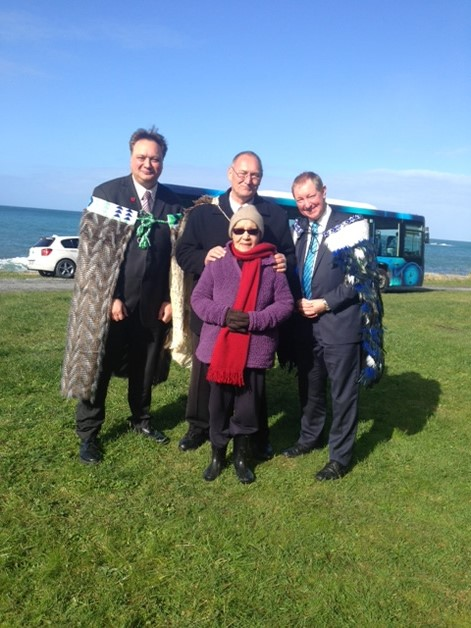 Rino Tirikatene, Tā Mark, Minister Nick Smith, Aunty  Darcy Solomon.