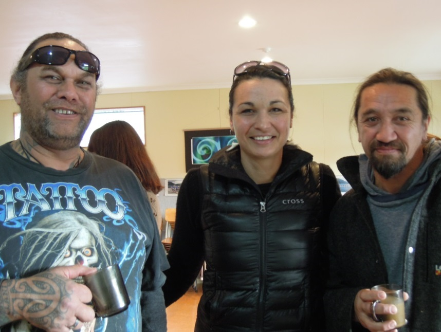 Robert Greene, Amber Bridgman & James York at Whakapapa o te Whare