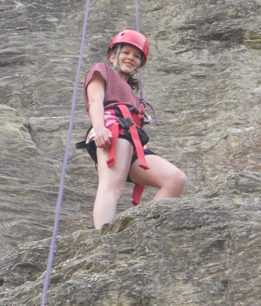 Rock climbing was one of the many Outward Bound activities Rebekah enjoyed.