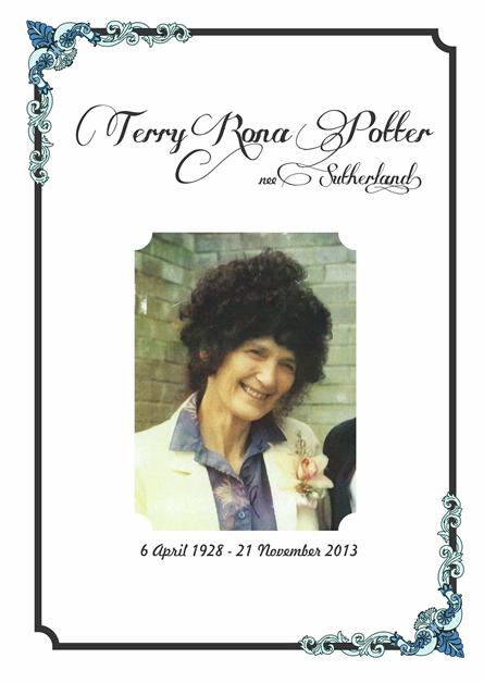 Rona (Terry) Potter.