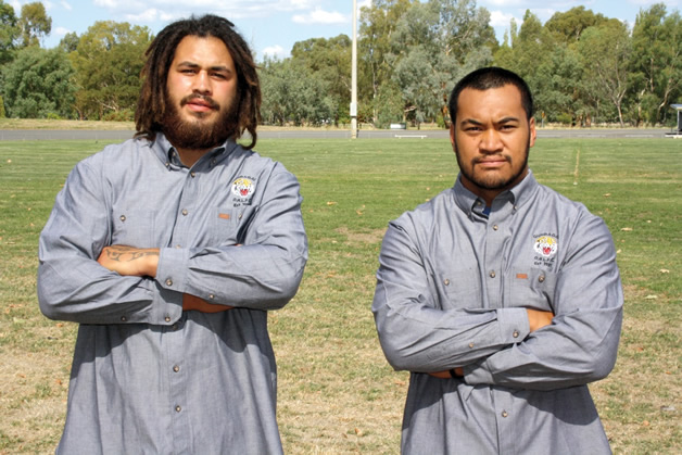 Rulon Nutira and Mathew Sauni (Rulon's Canterbury Bulls team mate also signed for Gundagai).