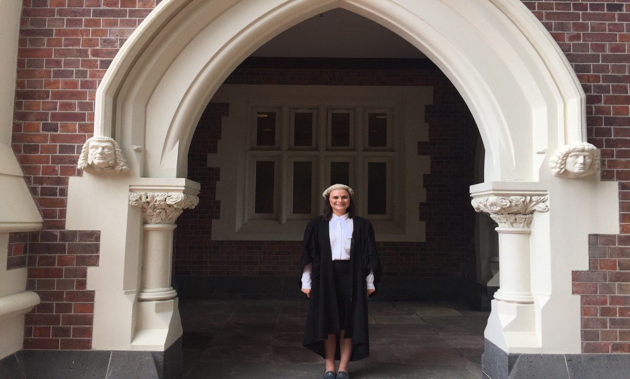 Samantha Te Au, recently admitted to the Bar.