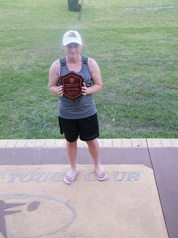 Savanna Steele with her trophy.