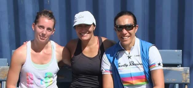 Second placegetters, Laura Watson, Teresa Butler and Keela Atkinson.