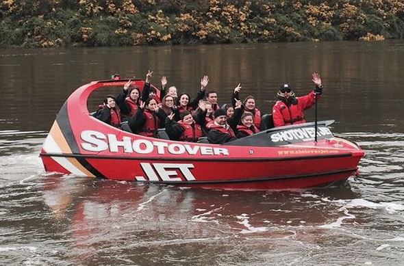 Shotover Jet rides thrilled whānau as they travelled on the Taieri River.