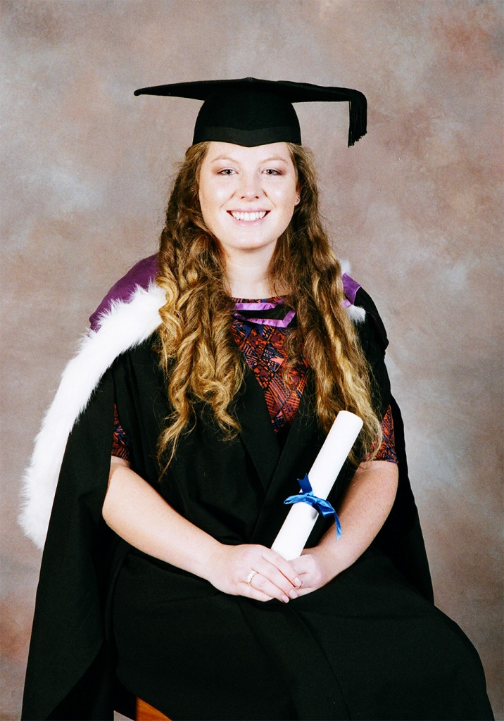 Rebecca Crotty Jones at her graduation.