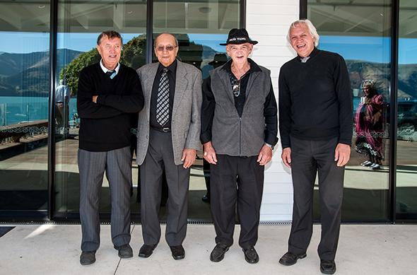 Some of Ōnuku Rūnaka kaumātua. George Tainui, George Waitai Tikao, Bruce Rhodes and Theo Bunker.