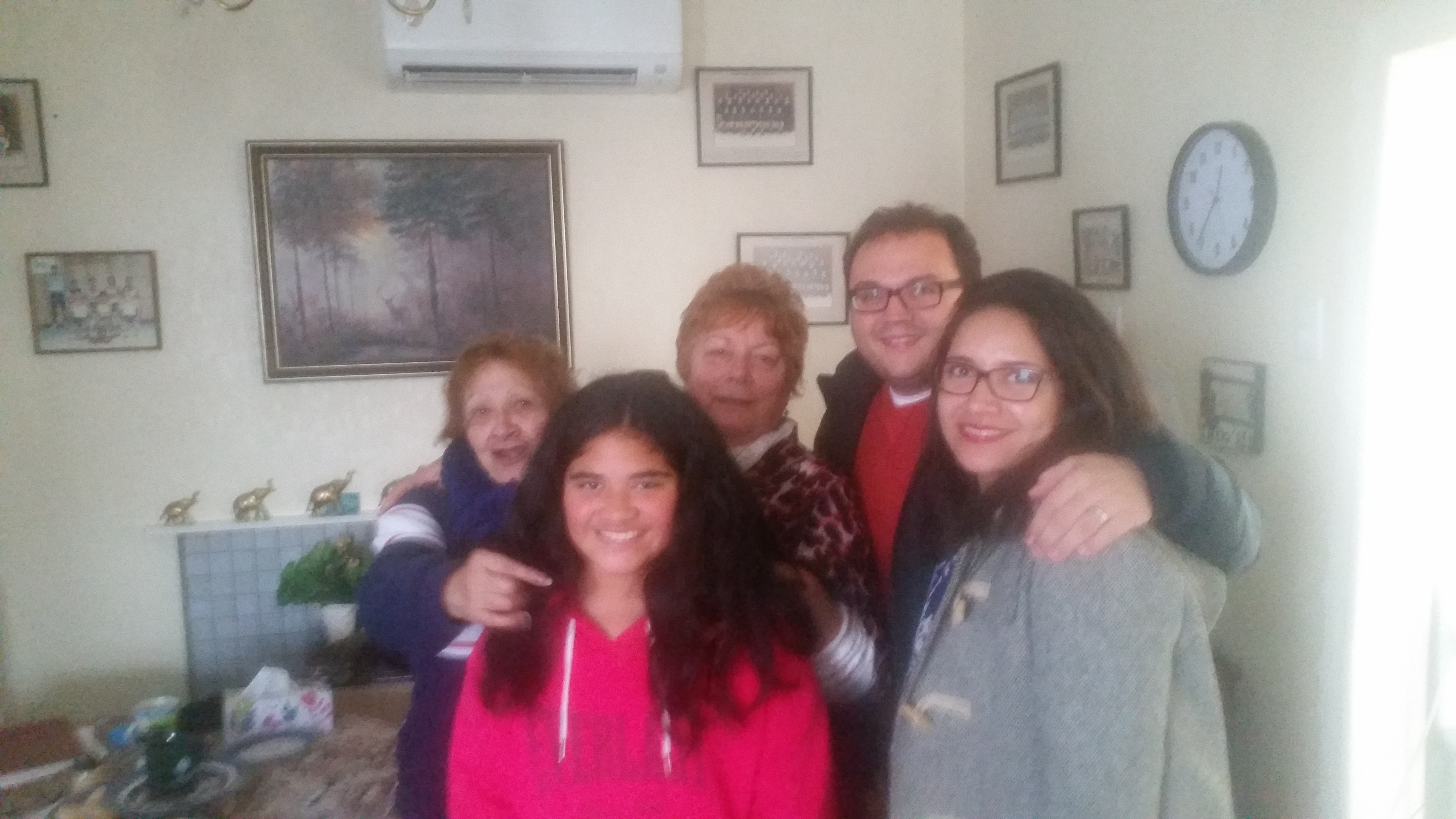 Some of the whānau who visited Squirrel.