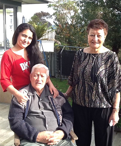Sonny and Taina with their mokopuna, Shay Tahana.