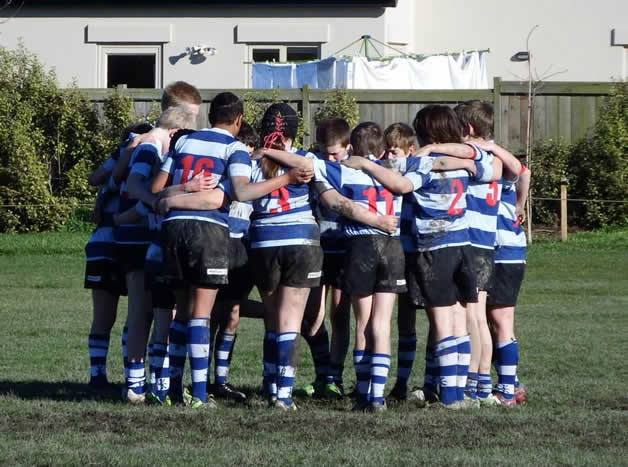 Southbridge Under 11 ½ getting ready for a big game.