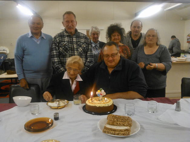 Standing, from left Doug Couch, Terry Ryan, Elaine Couch, Mariata Laffey, Rewi Couch and Huia Rhodes. Aunty Joyce Hoffman (nee Riwai) and Maui Stuart are seated.