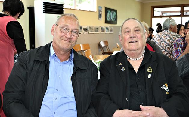 Tā Mark with Puketeraki Upoko, David Ellison.