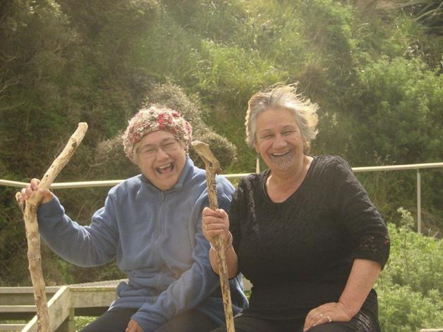 Tāua Dierdre Carroll and tāua Mary Laurenson.