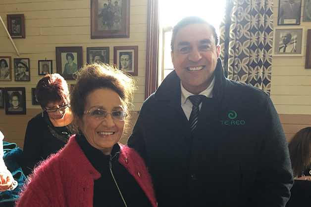 Tāua Hiria Moffat and Julian Wilcox.