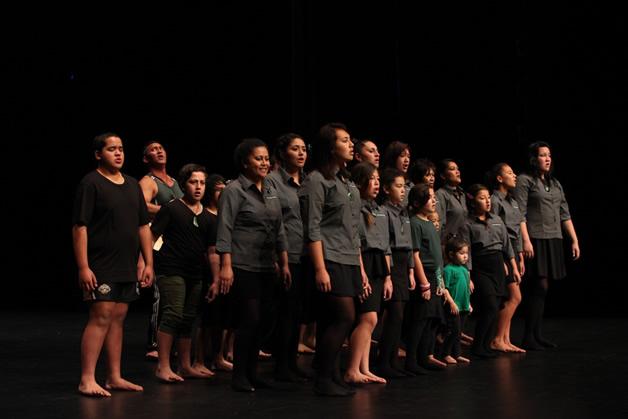 Taking to the stage at Te Atakura.