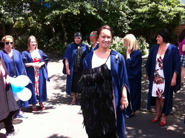 Takiwai Russell-Camp graduating from Otago Polytechnic School of Design in December.