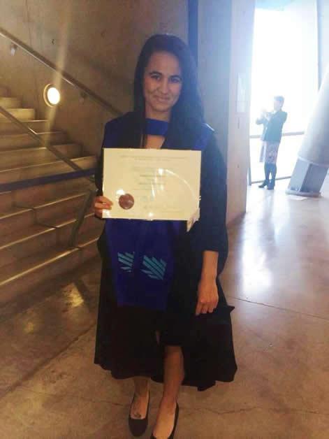 Tamara on her graduation day.