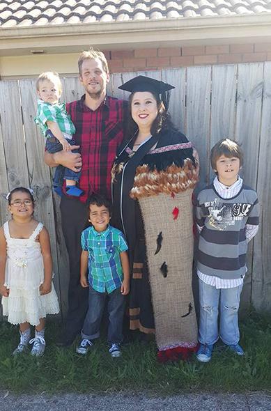 Taryn with members of her proud whānau.