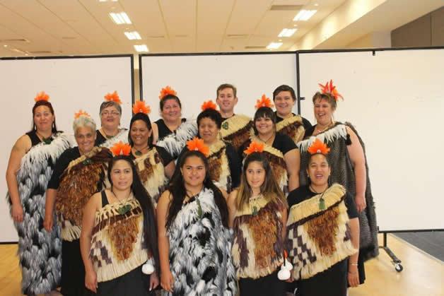 Taumutu members who performed with Te Ahikaaroa in support of getting three teams through to Te Matatini 2015.
