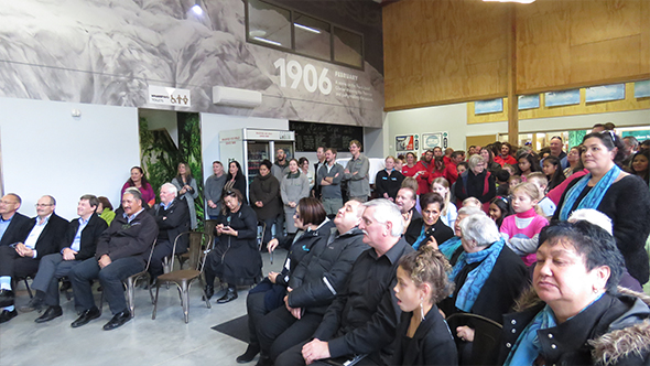 Te Ao Mārama opening crowd.