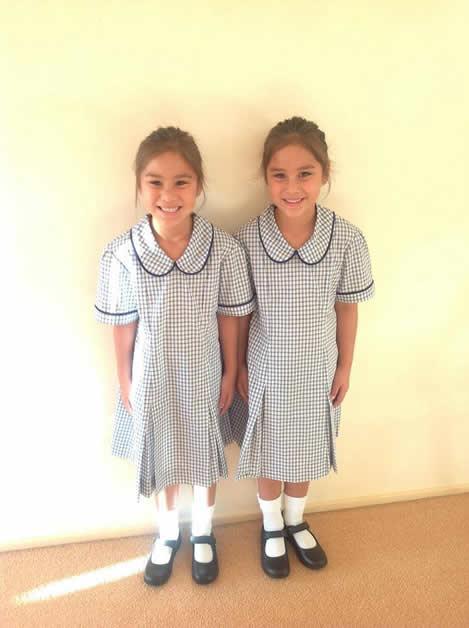 Rangitiriao and Te Atarau in their Gundagai school uniform.