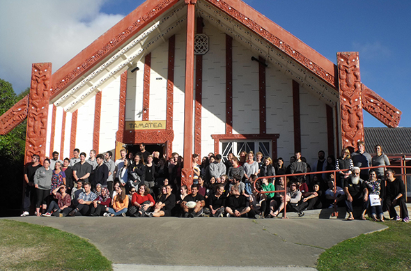 Te Kura Whaiora o Ōtepoti/The Dunedin School of Medicine - Kōhatu Centre Hauora Māori, fifth year medical students and staff at the noho marae.