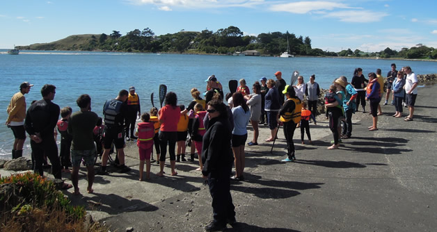 Waka Fun Day at the Karitāne foreshore in February.